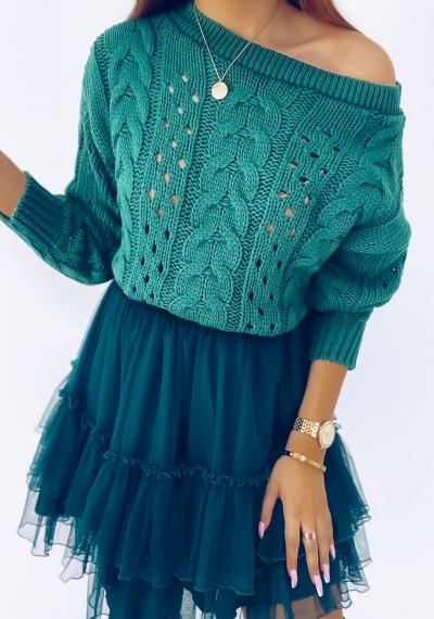 Sweter CORNELL zielony
